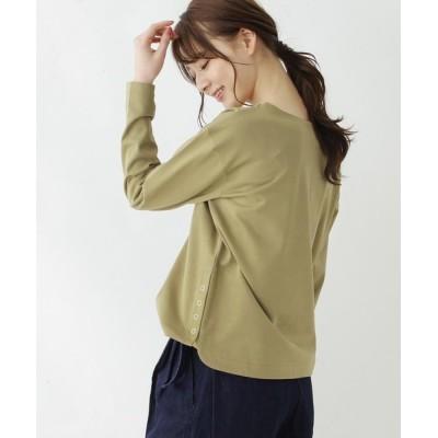 OPAQUE.CLIP / SUPIMA(R)度詰裾スナッププルオーバー【WEB限定サイズ】 WOMEN トップス > Tシャツ/カットソー