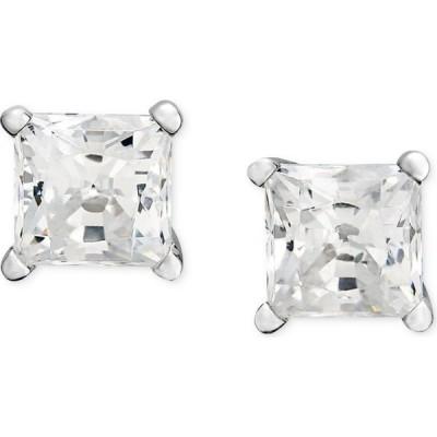 メイシーズ Macy's ユニセックス イヤリング・ピアス Princess-Cut Diamond Stud Earrings in 14k White Gold & Yellow Gold (1/3 ct. t.w.)