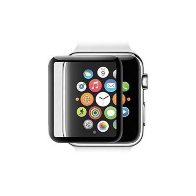 Apple Watch 42mm ガラスフィルム Series 2 / series 3 対応 3D曲面カバー 全面保護 硬度9H 指紋防止