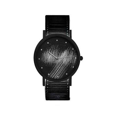 South Lane Stainless Steel Swiss-Quartz Leather Calfskin Strap, Black, 20 Casual Watch (Model: core-SL-153) 並行輸入品