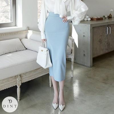 「DINT」 ★送料無料★SK2043 ロングスカート セレブ系オフィススタイル 韓国ファッションブランドDINTのオシャレなオフィススタイル提案!