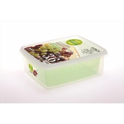 サンコープラスチック ザル付DパックD−9 グリーン 4973230059420 保存容器
