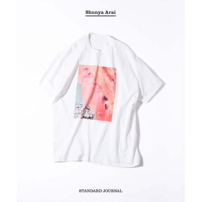ジャーナルスタンダード 【STANDARD JOURNAL / スタンダード ジャーナル】by ARAI PINK Print TEE ホワイト XL