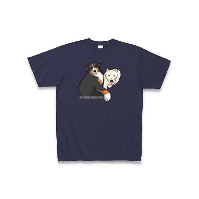 バーニーズ×紀州犬 Tシャツ Pure Color Print(メトロブルー)