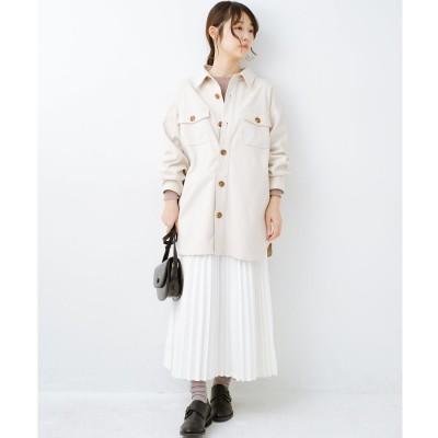 haco! 気軽に羽織って今っぽオシャレに見える ゆるさがかわいいCPOジャケット(アイボリー)
