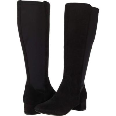 クラークス Clarks レディース ブーツ シューズ・靴 Marilyn Abby Wide Calf Black Suede