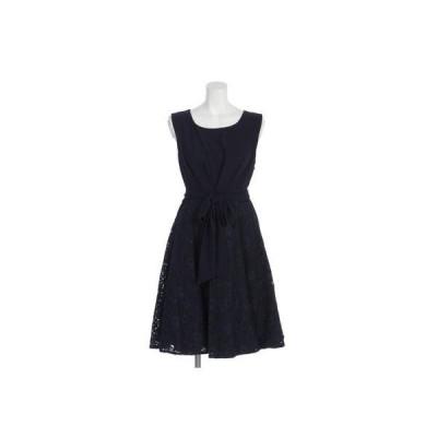 【Rew de Rew】バックスピンドール付ドレス(8R04-11043) (ネイビー)