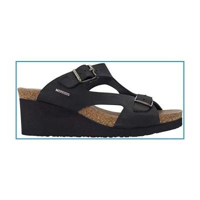 新品Mephisto Womens Terie Sandals, Black Nubuck, Size 10【並行輸入品】
