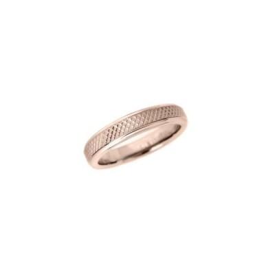 タングステン カットデザインリング4mm幅 PVD ピンク 7〜21号 文字入れ刻印可能  ペアリング 結婚指輪 マリッジリング