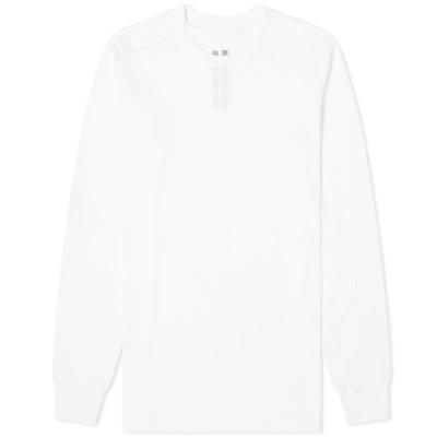 リック オウエンス Rick Owens メンズ 長袖Tシャツ トップス long sleeve level tee White