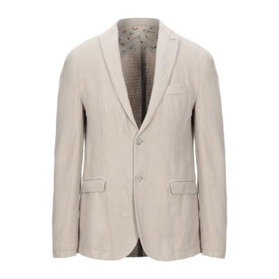 BARBATI テーラードジャケット ベージュ 46 コットン 59% / 麻 41% テーラードジャケット
