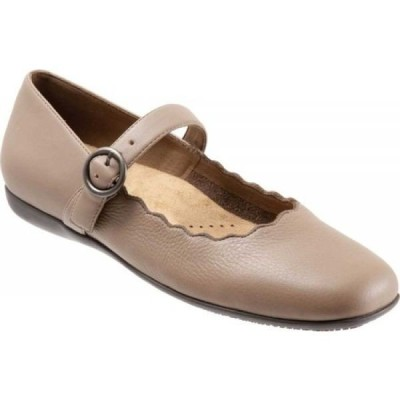 トロッターズ Trotters レディース シューズ・靴 Sugar Mary Jane Dark Taupe Leather/Synthetic