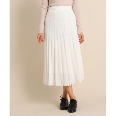 anatelier/アナトリエ ◆模様編みロングニットスカート オフホワイト(003) 38(M)
