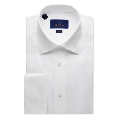 デイビッドドナヒュー メンズ シャツ トップス Jacquard Trim Fit Tuxedo Shirt