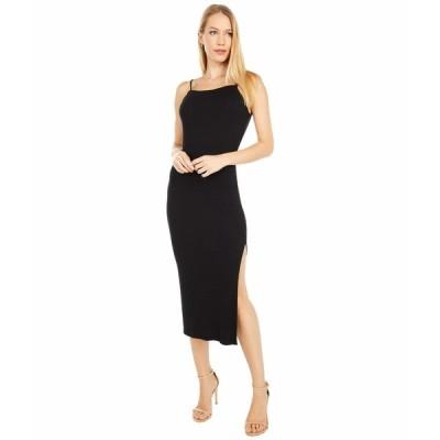 ラメイド ワンピース トップス レディース Ivy 2x1 Modal Stretch Rib Dress Black
