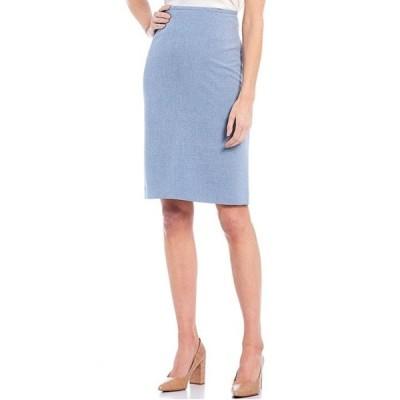 プレストンアンドヨーク レディース スカート ボトムス Kelly Stretch Chambray Pencil Skirt