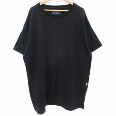 【中古】チャオパニック ティピー チュニック Tシャツ カットソー 半袖 ラウンドネック 無地 F 黒 /FF27 レディース