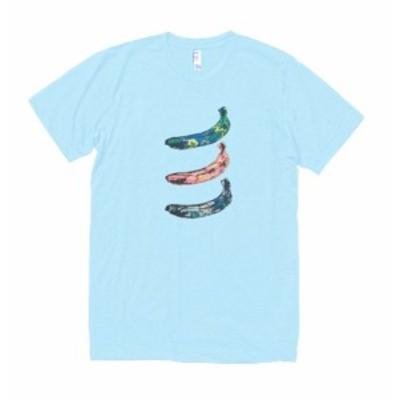 デザイン Tシャツ バナナ3 水色