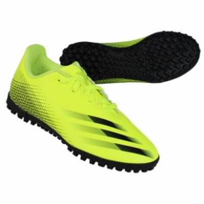 ジュニア エックス ゴースト.4 TF J ソーラーイエロー×コアブラック 【adidas|アディダス】サッカーフットサルジュニアトレーニングシ