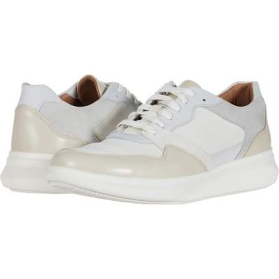 クラークス Clarks メンズ スニーカー シューズ・靴 Un Globe Run White/Stone Leather/Text Combi