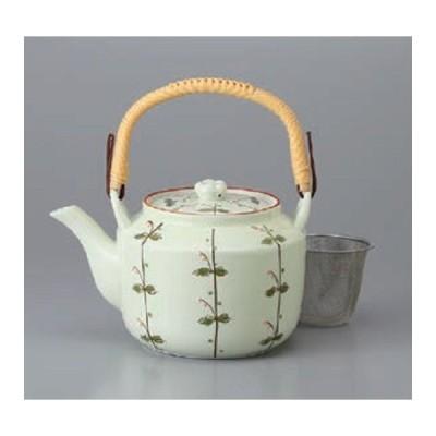 土瓶 急須 ふたば角6号土瓶(網カゴ付) 茶器 ティーポット 日本製