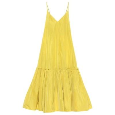 ドリス ヴァン ノッテン Dries Van Noten レディース パーティードレス ワンピース・ドレス Taffeta gown Yellow