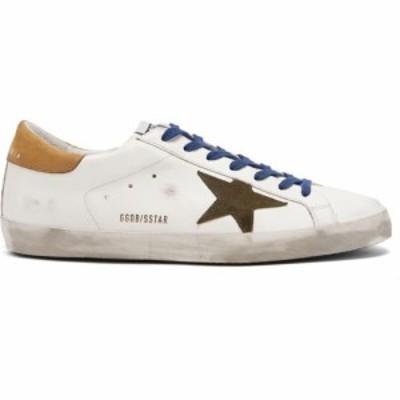 ゴールデン グース Golden Goose メンズ スニーカー シューズ・靴 Superstar suede-trimmed leather trainers White