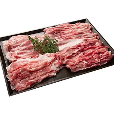 良品食材 (静岡)(料理王国100選5年連続 富士幻豚) 切り落としセット 豚肩切り落とし500g、バラ切り落とし500g