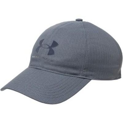 アンダーアーマー メンズ 帽子 アクセサリー Isochill Armourvent ADJ Hat Pitch Gray/Black