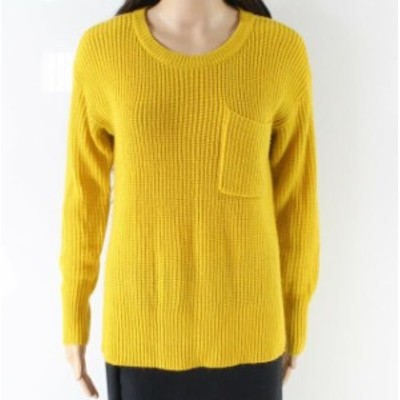Sanctuary サンクチュアリ ファッション トップス Sanctuary NEW Yellow Womens Size Small S Front Pocket Pullover Sweater