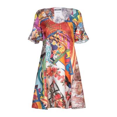 モスキーノ MOSCHINO ミニワンピース&ドレス レンガ 38 シルク 100% ミニワンピース&ドレス