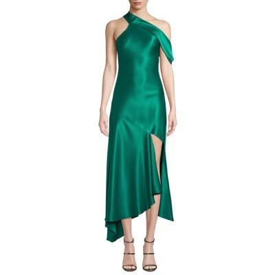 クシュニーエオクス レディース ワンピース トップス One-Shoulder Satin Slip Dress