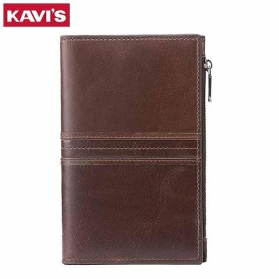 KAVIS Rfid 本革パスポートカバー ID カードホルダー旅行クレジット財布男性財布ケース運転免許バッグ男 Coffee M