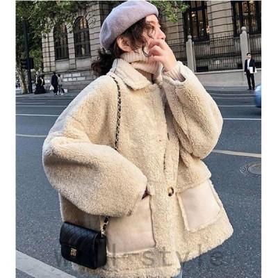 ファーコートレディース毛皮コートフェイクファーアウターふわふわ防寒オーバーコート体型カバー冬物通勤30代40代50代ジャケット