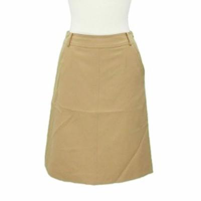 NATURAL BEAUTY BASIC ナチュラルビューティーベーシック ステッチ ウールスカート (台形スカート) 075520【中古】