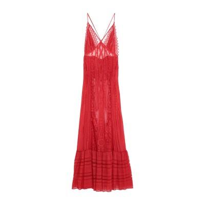 .AMEN. ロングワンピース&ドレス レッド 40 レーヨン 88% / ナイロン 12% ロングワンピース&ドレス