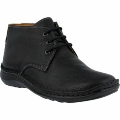 スプリングステップ ブーツ Mathias Chukka Boot Black Leather
