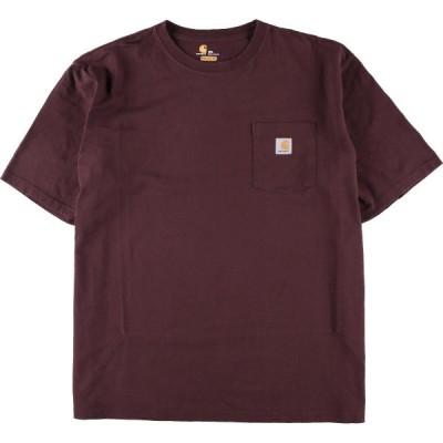 ビッグサイズ カーハート Carhartt ワンポイントロゴポケットTシャツ メンズ4L /eaa155420