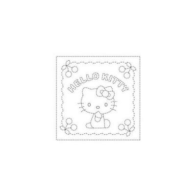 【オリムパスOLYMPUS】刺し子サンリオ「花ふきん布パック 白」 60 ハローキティとさくらんぼ【C3-8】U6