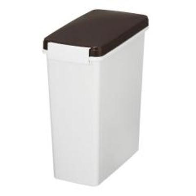 ゴミ箱 分別 臭わない 防臭 パッキン付き スリムペール 14L 幅17cm ( ごみ箱 分別 ダストボックス 縦型 プラスチック製 パッキン くずかご ダストBOX 分別ゴミ箱 分別ごみ箱 おしゃれ 無地 おむつ 生ごみ 入れ コンパクト )