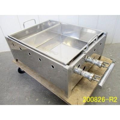 格安!◆ガス式おでん鍋 直火式 W500+115×D400×H210 都市ガス 仕切付き ステンレス製 業務用 厨房機器 2色鍋 おでん/商品番号:200826-R2 H