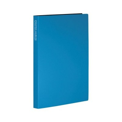 セキセイ フォトアルバム 高透明 ポストカード・KG・ハガキサイズ80枚(ブルー)