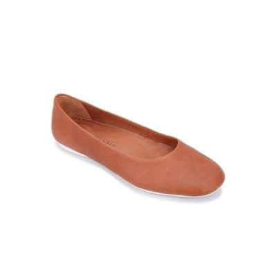 ジェントルソウルズ サンダル シューズ レディース by Kenneth Cole Eugene Travel Ballet Flats Cognac Leather
