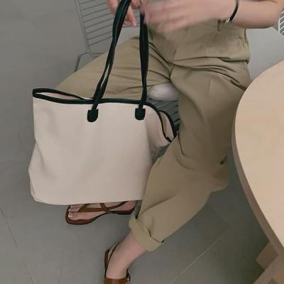 GIVEU レディース キャンバスバッグ Canvas shopper bag