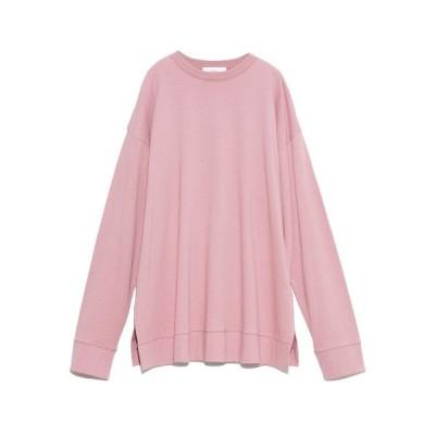 (Mila Owen/ミラオーウェン)裾切替サイドスリットロングTシャツ/レディース PNK