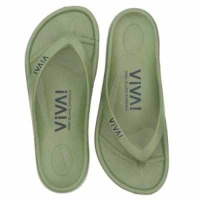 VIVA! ISLAND ビバアイランド FLIP FLOP ビーチサンダル メンズ レディース カーキ