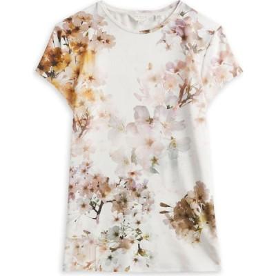 テッドベーカー Ted Baker レディース Tシャツ トップス Ayleyc Vanilla Fitted T-Shirt WHITE