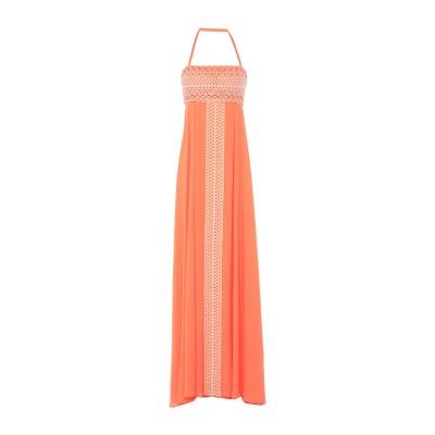 MAESTRI ロングワンピース&ドレス オレンジ 10 ポリエステル 100% ロングワンピース&ドレス