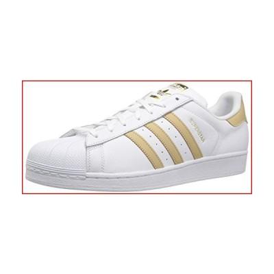 adidas Originals mens Super Star Sneaker, White/Linen Khaki/Gold Metallic, 9 US【並行輸入品】