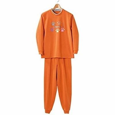 裏起毛パジャマ オレンジ LL